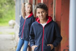 kids in hoodies